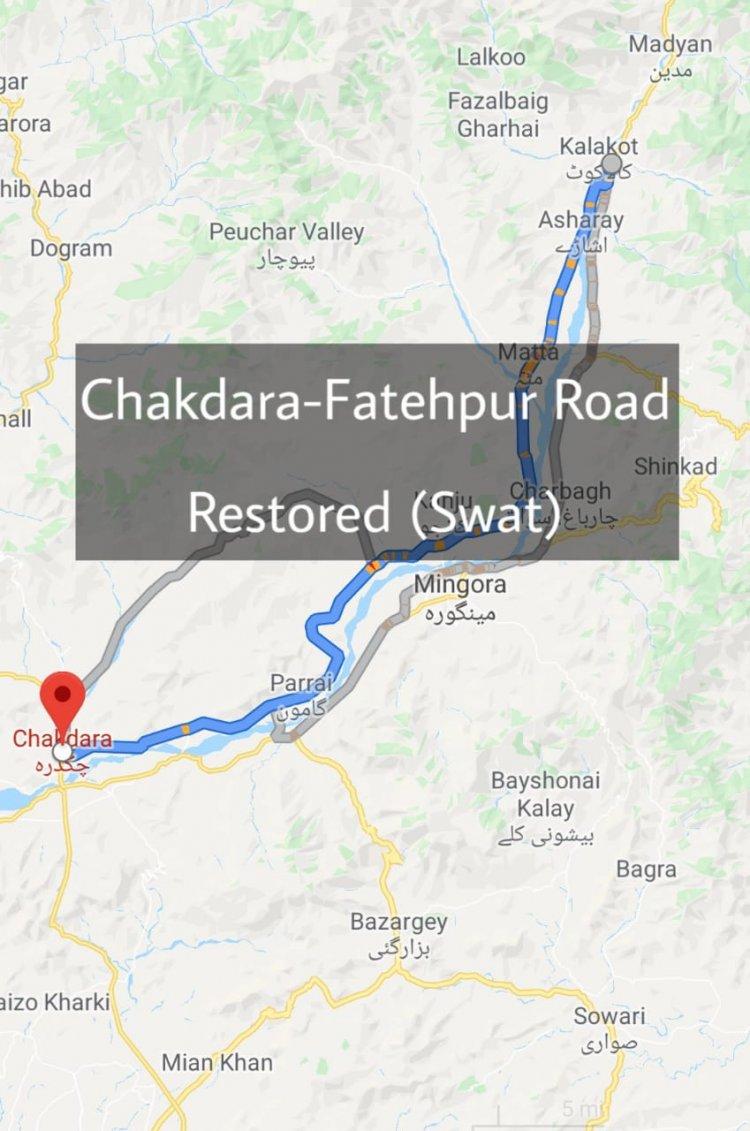 82KM Chakdarah-Fatehpur Road (Swat) Restored